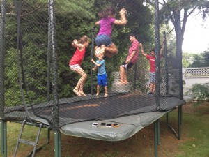 No iPhones on the Trampoline
